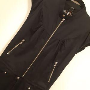 Nakita Black Zipper Detailed Jump Suit